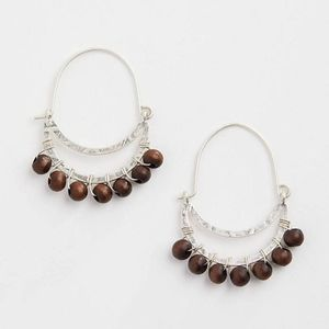 J. Jill - Excellent Natural Elements Beaded Hoops